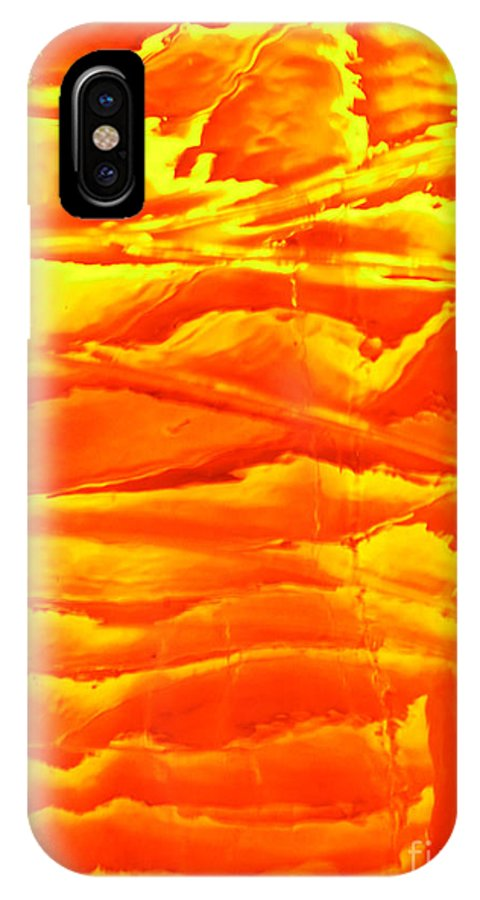 Orange IPhone X Case featuring the photograph Abstract Orange by Amanda Barcon