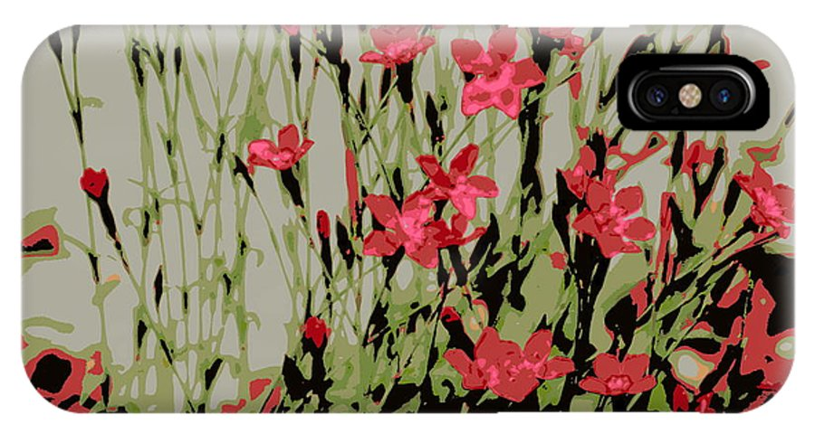 Red IPhone X Case featuring the photograph Abstract Red Flowers by Kenny Glotfelty