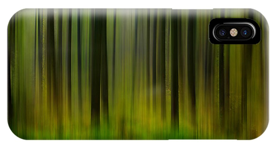 Abstract IPhone X Case featuring the photograph Abstract Trees by Trevor Kersley