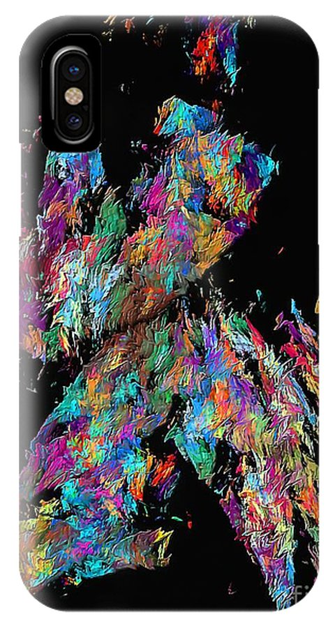 Graphics IPhone X Case featuring the digital art Abstraction 587 - Marucii by Marek Lutek