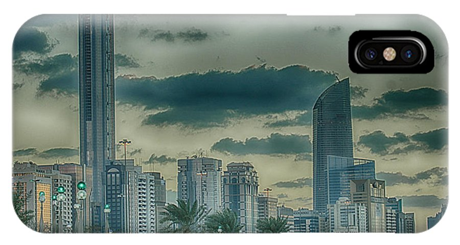 Cityscape IPhone X Case featuring the photograph Abu Dhabi Cityscape by Munir El Kadi