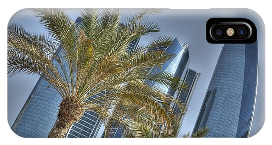 Emirtes IPhone X Case featuring the photograph Abu Dhabi View by Luca Roveda
