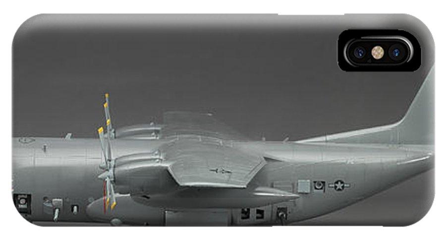 Ac 130 Gunship IPhone X Case featuring the photograph Ac 130 Gunship Side View by Robert Mollett