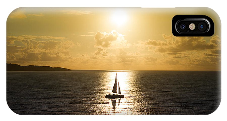 Sunrise IPhone X Case featuring the photograph Accompanied Journey by Randy Wood