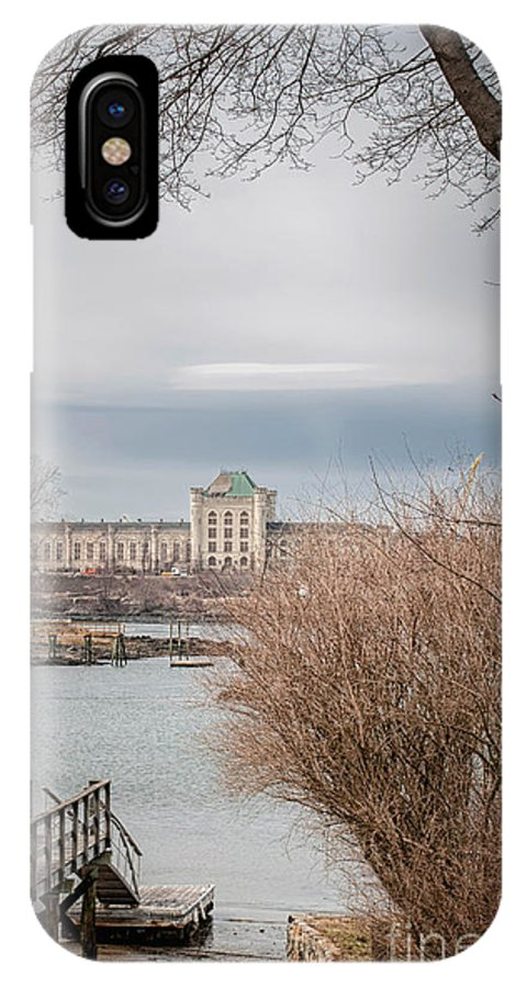 Piscataqua River IPhone X Case featuring the photograph Across The River by Scott Thorp