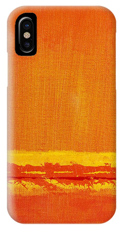 Acrylic IPhone X / XS Case featuring the painting Acrylic #17 by Kevin Woolgar