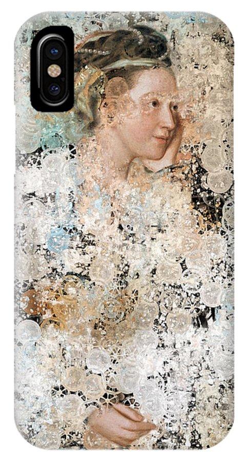 Blue IPhone X Case featuring the digital art Aeria - Portrait Creative Series by Aimelle