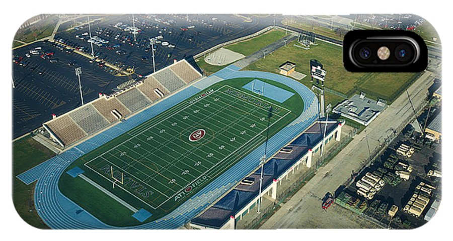 Aerial Photo IPhone X Case featuring the photograph Aerial Of Joliet Memorial Stadium by Luke Golobitsh