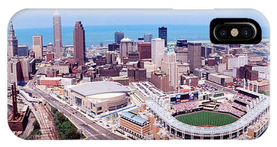 Photography IPhone X Case featuring the photograph Aerial View Of Jacobs Field, Cleveland by Panoramic Images