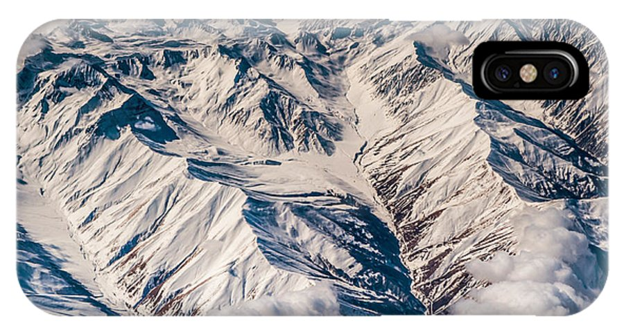 Aerial IPhone X Case featuring the photograph Aerial View Of The Mountains by Jenny Rainbow