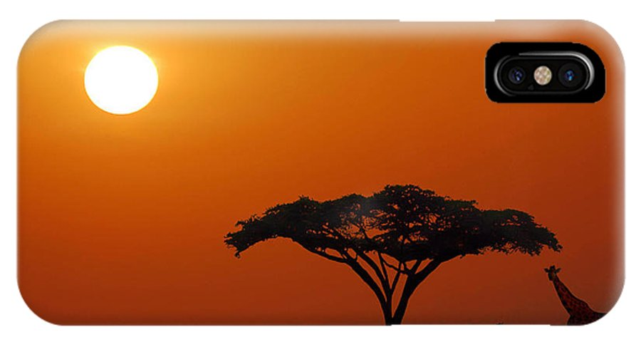 Kenya IPhone X Case featuring the photograph African Morning by Jim Southwell
