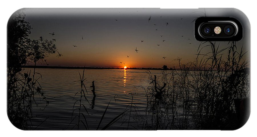 African IPhone X Case featuring the photograph African Sunset by Suanne Forster