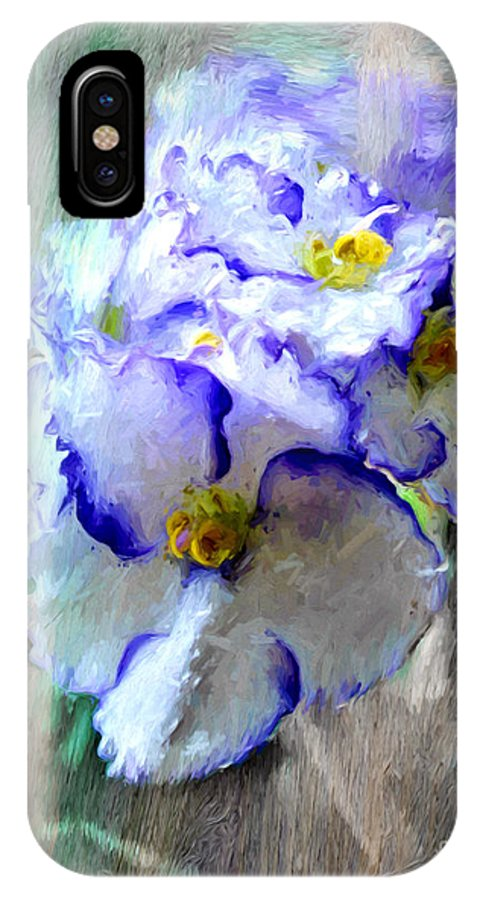 Rose IPhone X / XS Case featuring the photograph African Violet by Jim Hatch