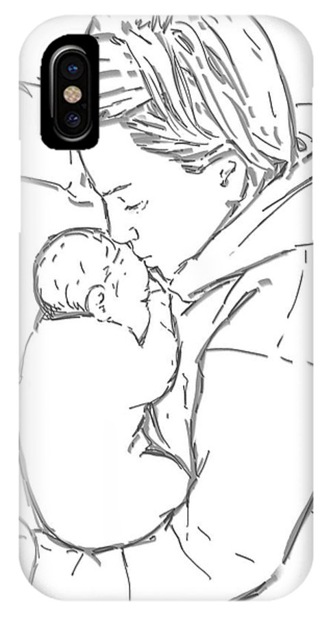 Made With Wacom IPhone X Case featuring the digital art After A Long Journey by Olimpia - Hinamatsuri Barbu