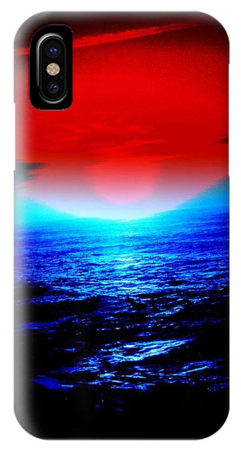 After Glow IPhone X Case featuring the photograph After Glow by David Munoz