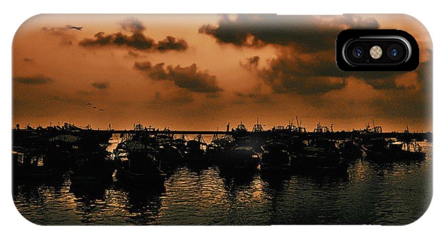 Sunset IPhone X Case featuring the photograph After Storm by Vineesh Edakkara