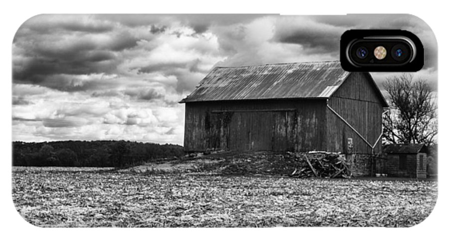 Barn IPhone X Case featuring the photograph After The Harvest by Omar Morales
