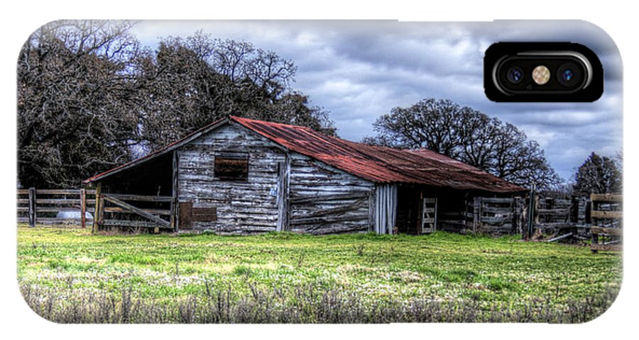 Old Barn IPhone X Case featuring the photograph After The Storm by Danny Pickens