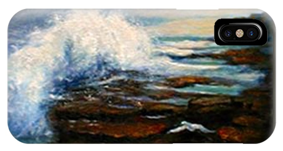 Seascape IPhone X Case featuring the painting After The Storm by Gail Kirtz