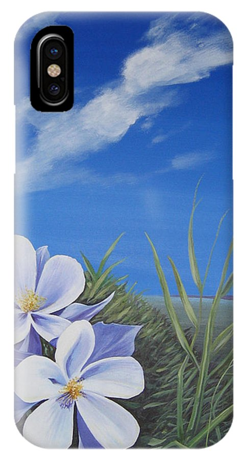 Landscape IPhone X Case featuring the painting Afternoon High by Hunter Jay
