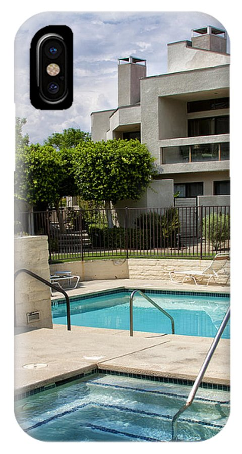 Swimming Pool IPhone X Case featuring the photograph Afternoon Swim Palm Springs by William Dey