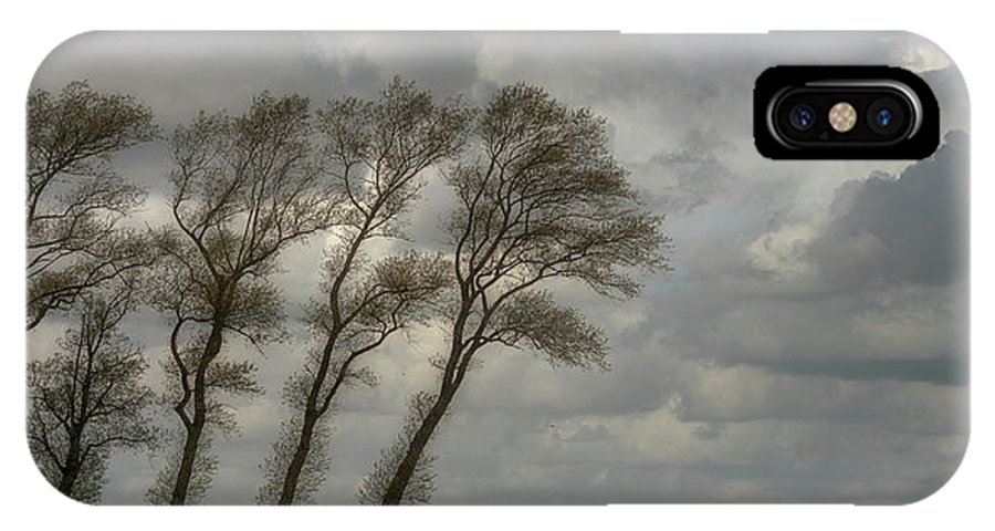 Panorama IPhone X Case featuring the photograph Against The Wind........... by Piet Haaksma