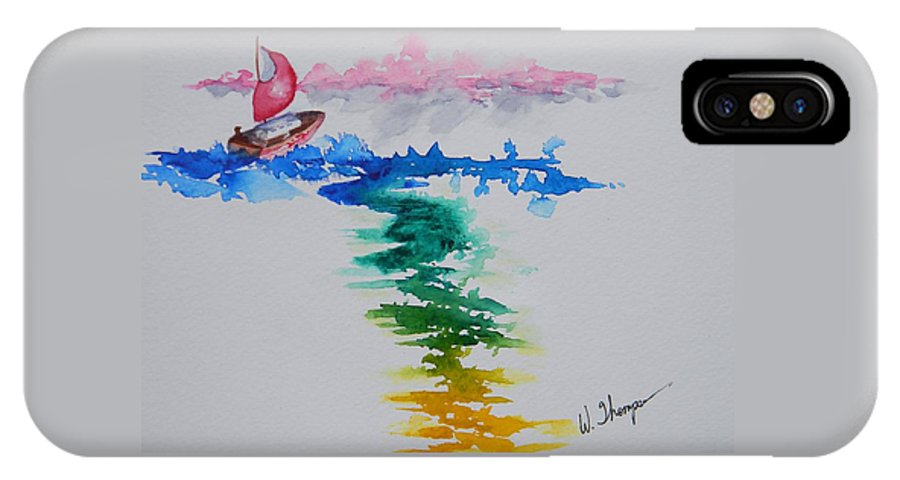 Against The Wind IPhone X Case featuring the painting Against The Wind by Warren Thompson
