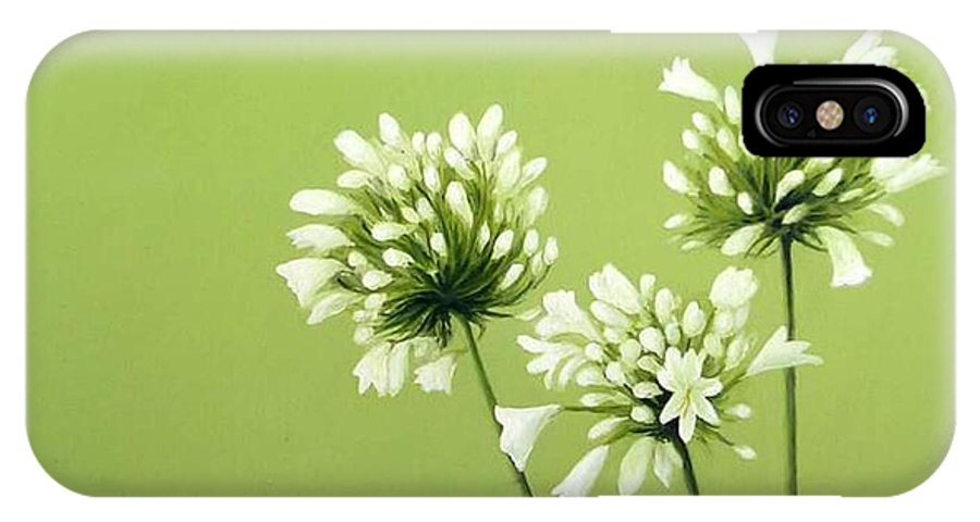 Flower IPhone X Case featuring the painting Agapanthus by Trisha Lambi