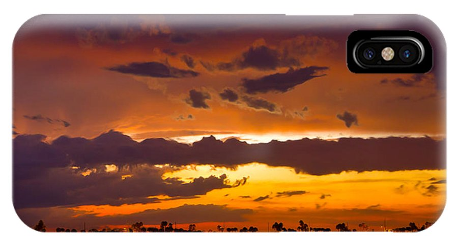 Florida IPhone X Case featuring the photograph Aglow by Stephen Whalen