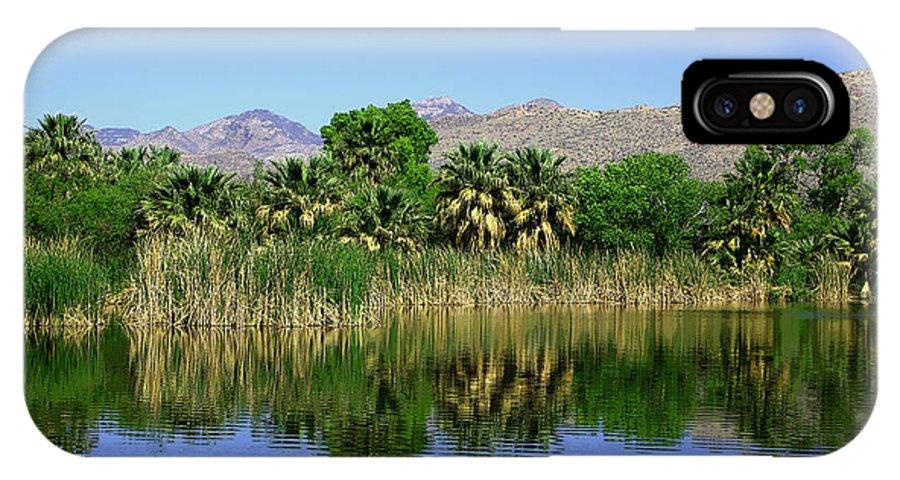 Oasis IPhone X Case featuring the photograph Agua Caliente by Joe Kozlowski