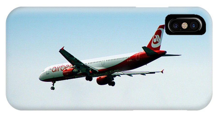 Airplane IPhone X Case featuring the photograph Air Berlin by Doc Braham
