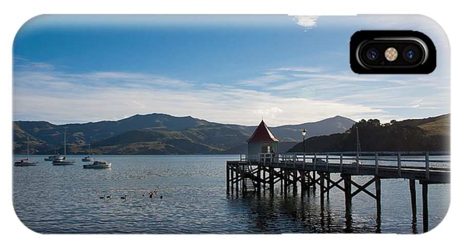 Harbour IPhone X Case featuring the photograph Akaroa Harbour by Jenny Setchell