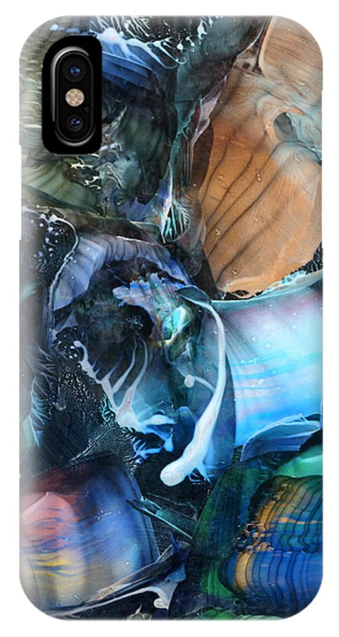 Original IPhone X Case featuring the painting Akashic Memories From Subsurface by Cristina Handrabur