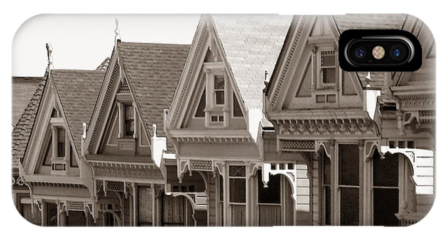 Alamo_square IPhone X Case featuring the photograph Alamo Square - Victorian Painted Ladies 2009 by Connie Fox