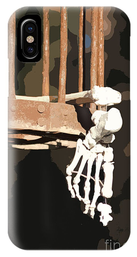 Skeleton Print IPhone X Case featuring the photograph Alas Poor Yorik by Joe Jake Pratt