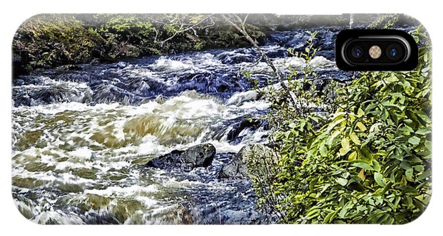Alaska IPhone X Case featuring the photograph Alaskan Creek - Ketchikan by Jon Berghoff