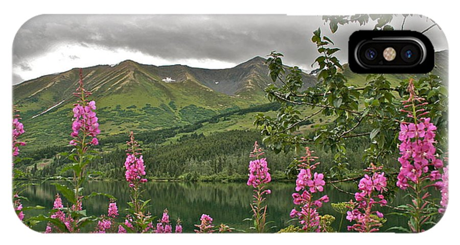 Alaska IPhone X Case featuring the photograph Alaskan Summer by Rick Monyahan