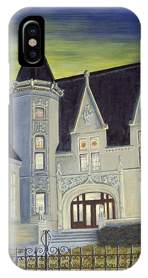 Scranton IPhone X Case featuring the painting Albright Memorial Library by Austin Burke