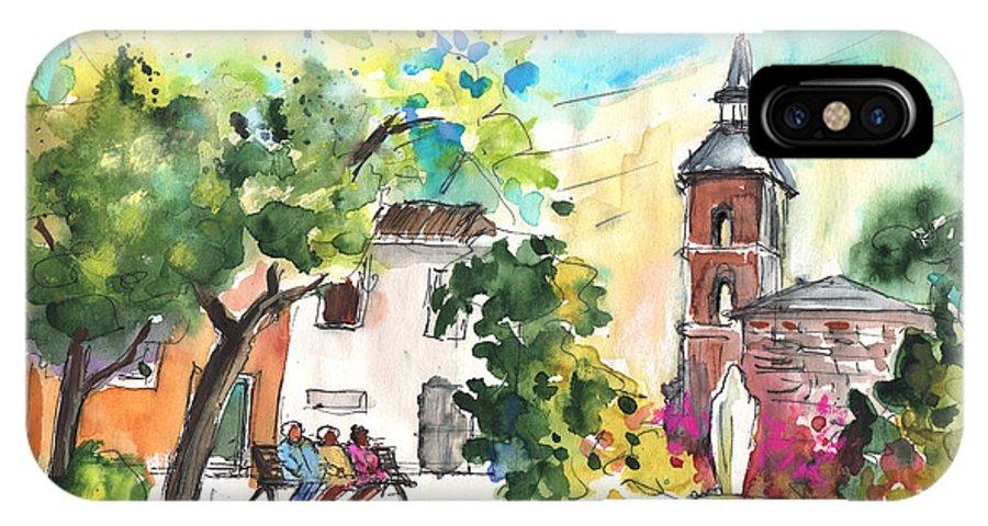 Travel IPhone X Case featuring the painting Alcazar De San Juan 03 by Miki De Goodaboom