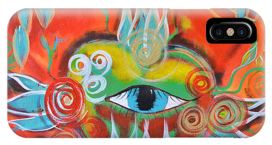 Alchemy IPhone X Case featuring the painting Alchemical Heart by Mary Ann Matthys