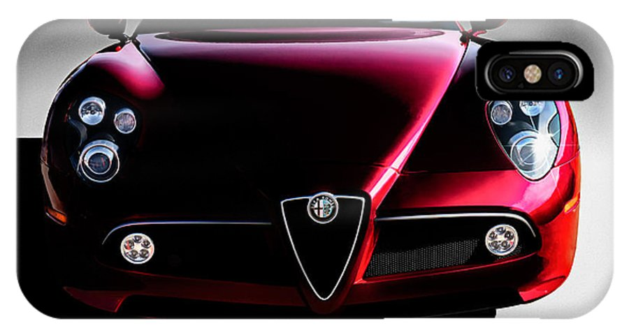 Italian IPhone X Case featuring the digital art Alfa Romeo 8c by Douglas Pittman