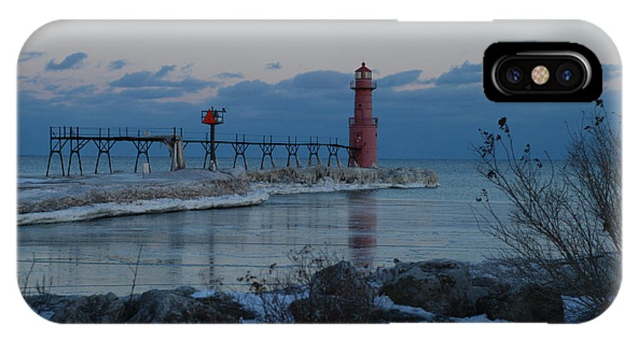Evening IPhone X / XS Case featuring the photograph Algoma Lightohouse In The Early Evening by Janice Adomeit