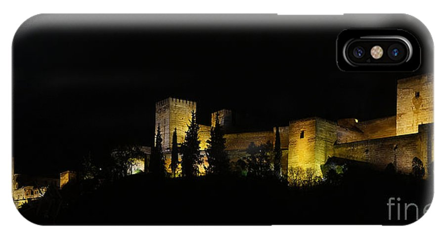 Europe IPhone X Case featuring the photograph Alhambra At Night by Rudi Prott