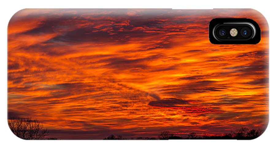 Fall IPhone X Case featuring the photograph Alien Sky by Sky Shepard