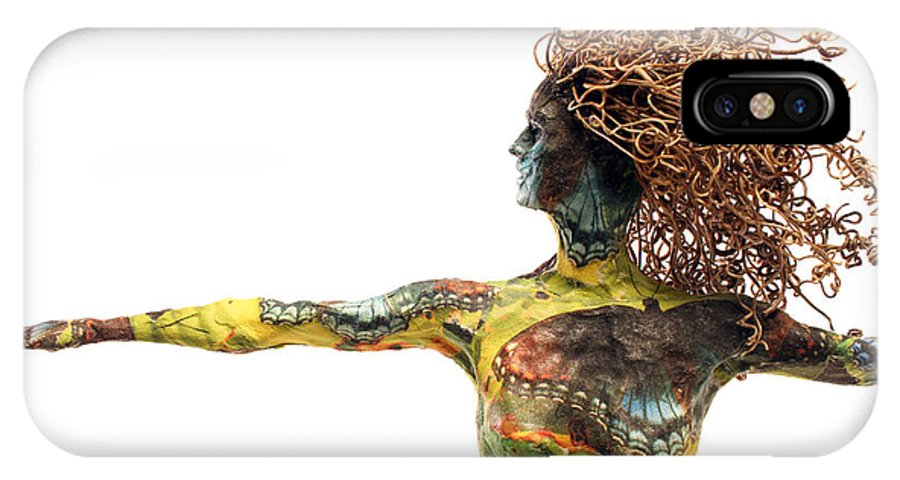 Art IPhone X Case featuring the mixed media Alight A Sculpture By Adam Long by Adam Long