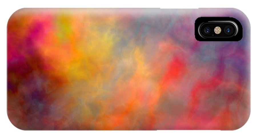 Abstract IPhone X Case featuring the digital art All My Love by Christy Leigh