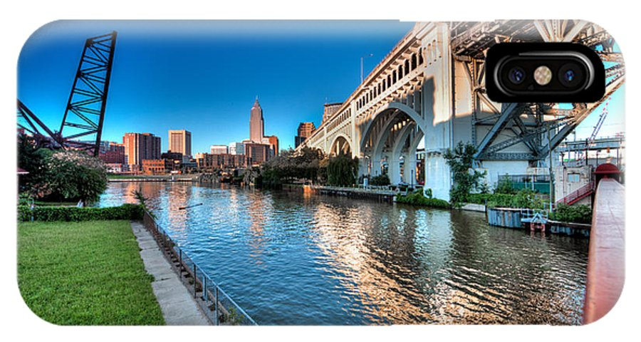 Hdr IPhone X Case featuring the photograph All Roads Lead To Cleveland by John Magyar Photography