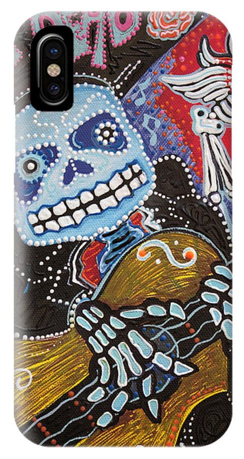 Day Of The Dead IPhone X Case featuring the painting All Souls Day by Laura Barbosa