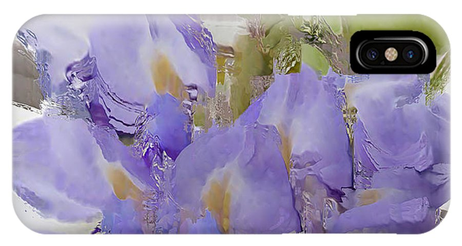Wisteria IPhone X Case featuring the photograph All The Flower Petals In This World 7 by Kume Bryant