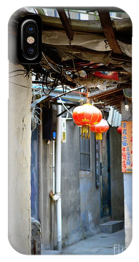 China IPhone X Case featuring the photograph Alleyways by Shawna Gibson